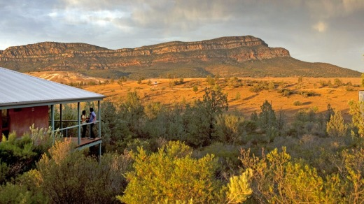 Wilpena Pound is a natural amphitheatre of mountains located in the heart of the Flinders Ranges National Park.