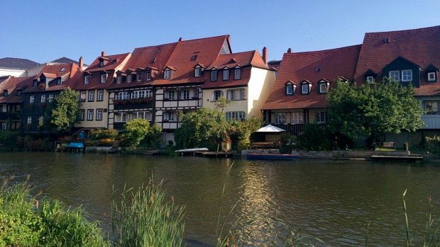 Little Venice in the pristine Middle Ages town of Bamberg on the Regnitz River.