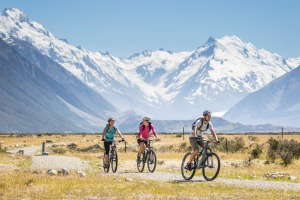 The Alps2Ocean cycle trail known as the A2O - is just over 300 kilometres long.
