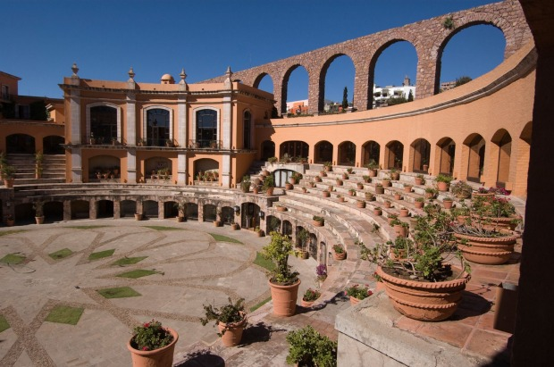 Quinta Real Zacatecas, Mexico: From above, the Quinta Real in Zacatecas forms a highly distinctive circle shape, and ...