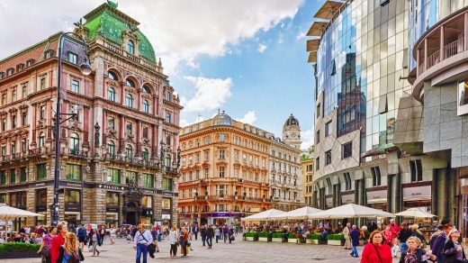 The world's most liveable city, Vienna, has dropped out of the top 20 most visited.