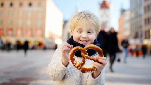 A pretzel  in Munich.