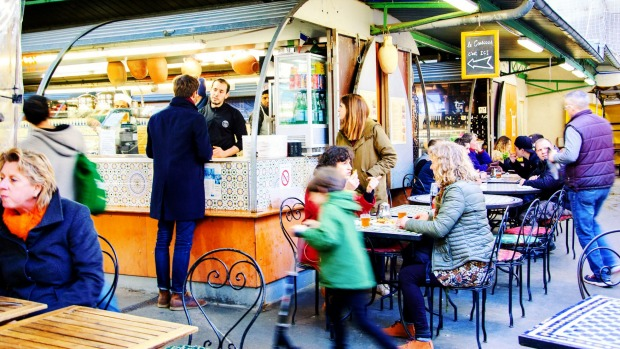 Marche des Enfants Rouges is the oldest covered market in Paris, known for its fresh produce and a variety of food stalls.