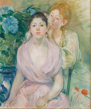 'L'hortensia' (The hydrangea) by Berthe Morisot 1894, oil on canvas.