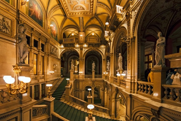 The interior of the State Opera House.