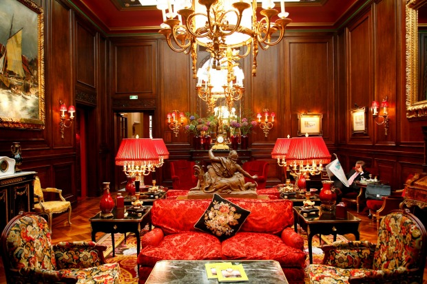 The lobby of Hotel Sacher, Vienna Austria.