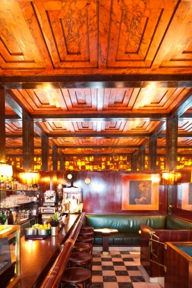 The ultra-cool American Bar, built by modernist architect Adolf Loos in 1908. So cool, smoking is still allowed inside.