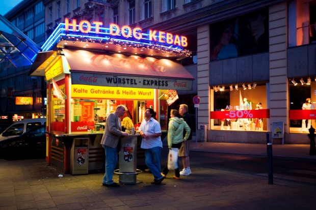 Street food of Vienna: Sausages.