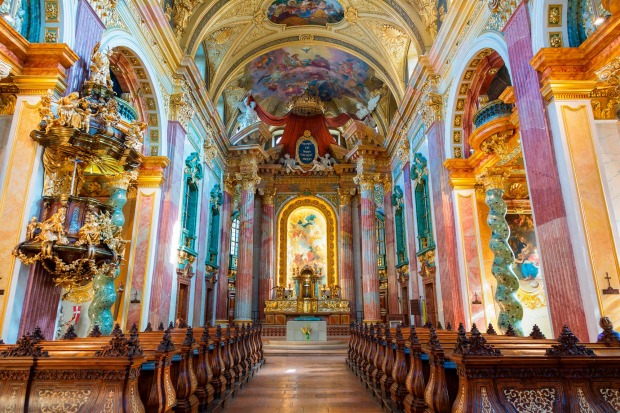 Vienna's stunning Baroque Jesuit Church.