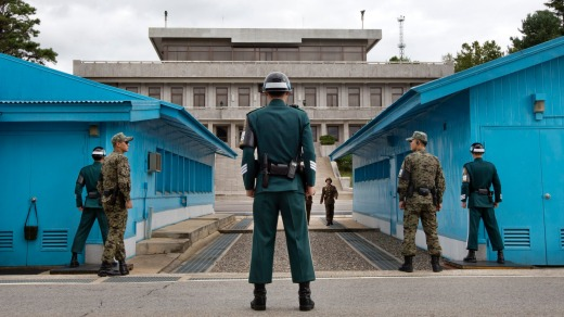 "Visitors to the Joint Security Area will be able to freely cross the demarcation line ""in the near future,"" South ..."