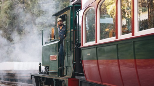 Thehistoric steam train between Queenstown and Strahan was built in the late 19th century to transport Queenstown's ...
