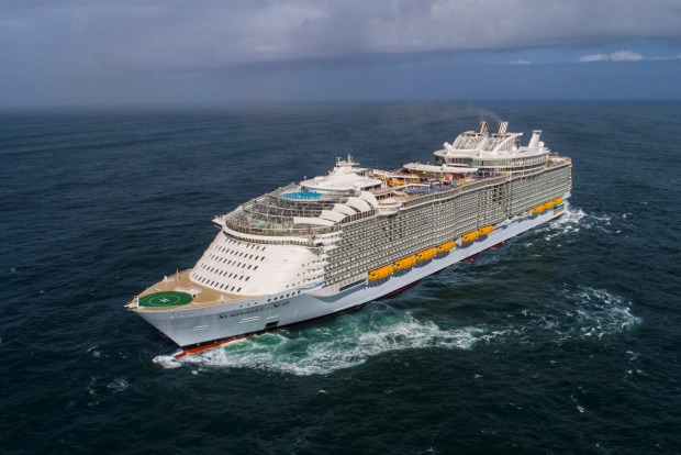 Royal Caribbean International's newest ship, Symphony of the Seas, is the largest cruise ship in the world.