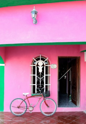 Vibrant colours dominate the buildings around Holbox.