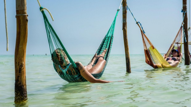 Hammocks appear to be the unofficial symbol of Isla Holbox, with them strung on every conceivable hook.