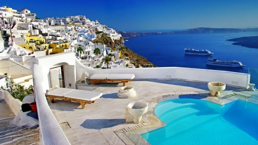 Santorini is the most visited island in Greece.
