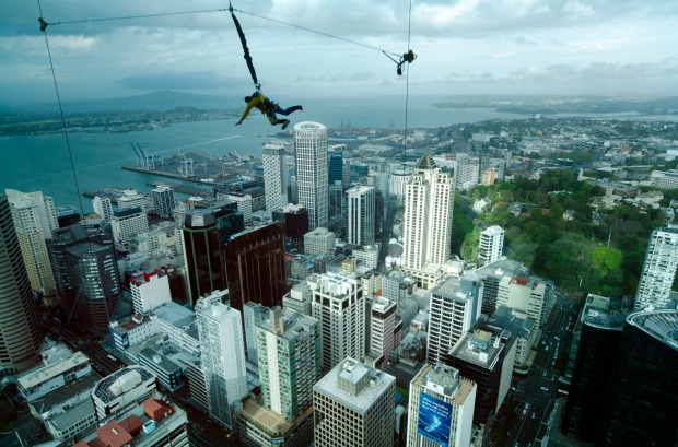 The Skyjump, Auckland: Auckland's Skytower also does the get outside at a ridiculous height thing, but it's only 192 ...