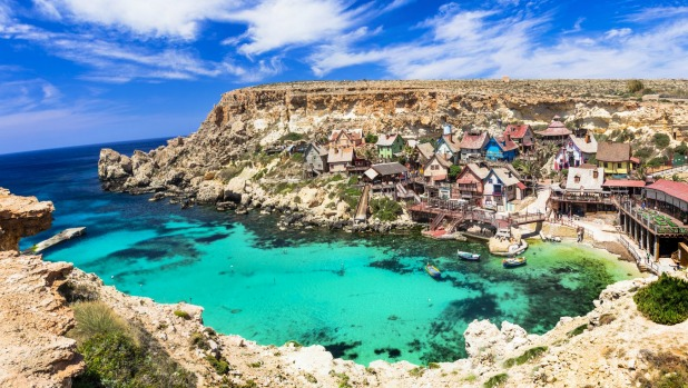 Popeye village in Malta, where it seems the sun is always shining.