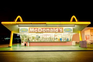 Home of the 'golden arches': Downey, Los Angeles.