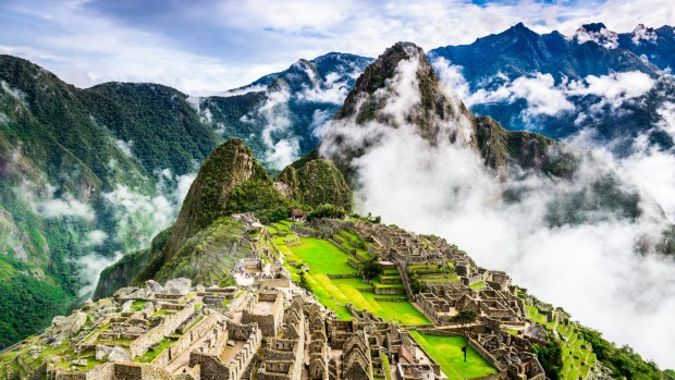 The  ruins of Machu Picchu.