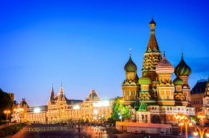 St Basil's Cathedral on Red Square, Moscow.