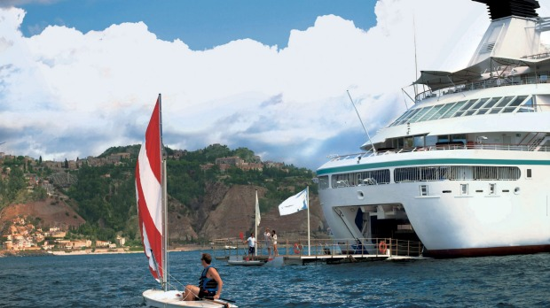 Windstar ships have on-board marinas stocked with watersports equipment.