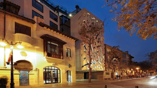 Easy to spot: Hotel Cumbres Lastarria stands out.
