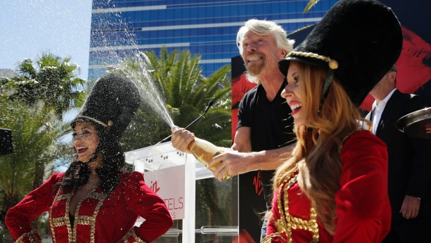 Virgin Group founder Richard Branson during a news conference in Las Vegas where Virgin Hotels announced that it had ...