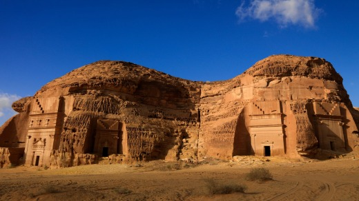 Madain Saleh archaeologic aite, Saudi Arabia.