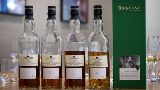 Various component whiskies that make up the The Brisbane