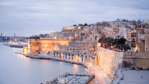 The spectacular fortifications of Valletta's Grand Harbour.