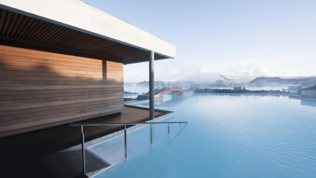 The Retreat at Blue Lagoon, overlooks the geothermal waters of Iceland's iconic spa attraction.