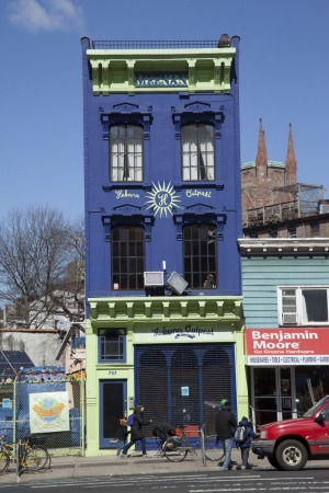 Habana Outpost Restaurant building on Fulton Street, in Fort Greene.