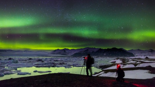 The northern lights are one of the highlights of Iceland's winter.