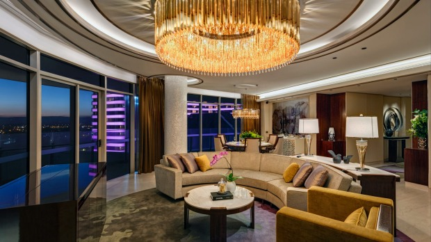 The Darling features opulent touches such as statement chandeliers.