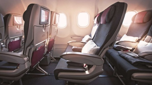 The space between seats allows for some leg-stretching, and taller passengers shouldn't find their knees grazing the ...