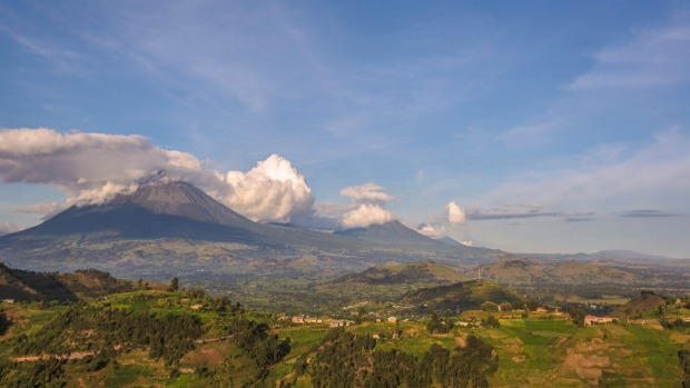 The volcanoes of Virunga.