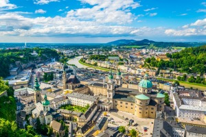The historic city of Salzburg.