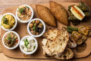 The vegan mezze plate for two at Xenia Food Store.