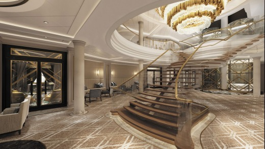 The Atrium on Seven Seas Splendor, which will be ready in 2020.