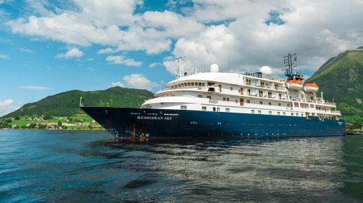 Hebridean Sky cruise ship.