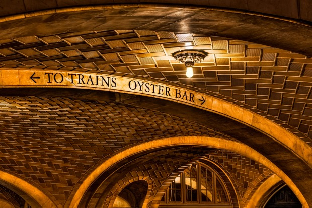 The Oyster Bar and Restaurant exterior showing Guastavino tiles.