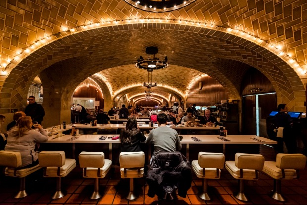 The Oyster Bar Restaurant at Grand Central Terminal.
