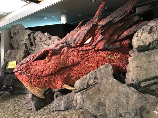 Wellington Airport: Smaug, the great dragon of Middle Earth from the Lord of the Rings trilogy can also be found at ...