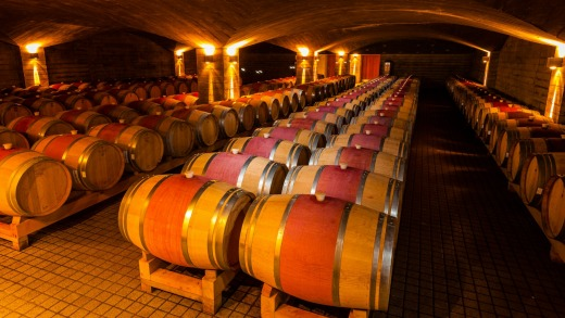Quarry wine cellar, Craggy Range Winery, Havelock North, Hawkes Bay, North Island, New Zealand.