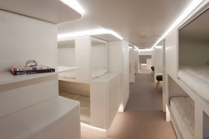 A bunk-bed concept that Airbus developed.