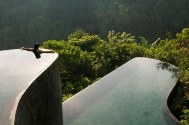 Hanging Gardens of Bali, Indonesia: Anyone who fails to be impressed by this multi-tiered rainforest infinity pool is, ...