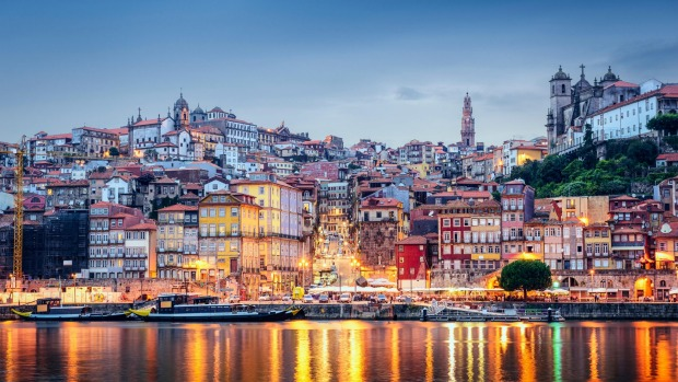 Porto on the Douro River, Portuga.