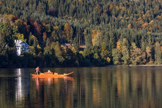 LAKE ALTAUSSEE, AUSTRIA: For such a small lake (only 2.5 kilometres long) this is a corker, ringed by 1,600-metre cliffs ...