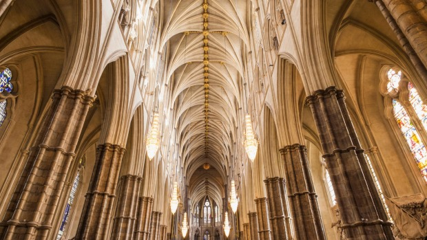 Grand design: The nave at Westminster Abbey.