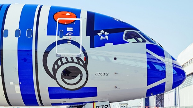 The first Star Wars plane, ANA's R2-D2 themed Dreamliner, has been flying since 2015.
